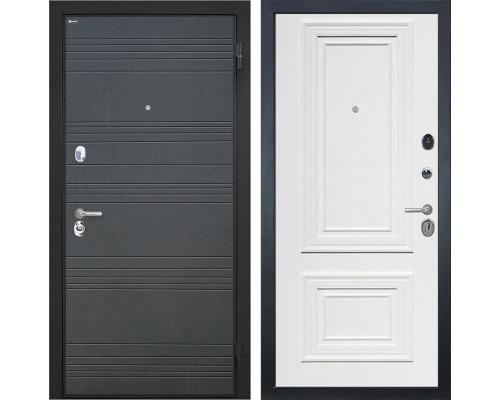 Входная металлическая дверь Интекрон СпартаСан Ремо-1 (Венге / Сигнальный белый)