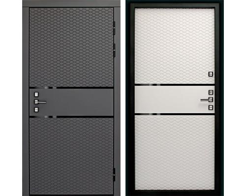 Входная металлическая дверь Дверной Континенте Диамант 3К (Графит софт / Софт Айс)