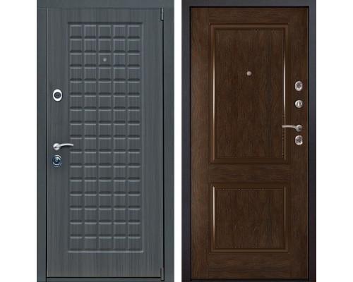 Входная металлическая дверь Мадрид 72 (Дуб серый / Каштан)