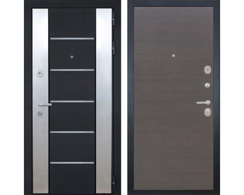 Входная металлическая дверь Интекрон Вельс (Черный металлик / ЭкоВенге)