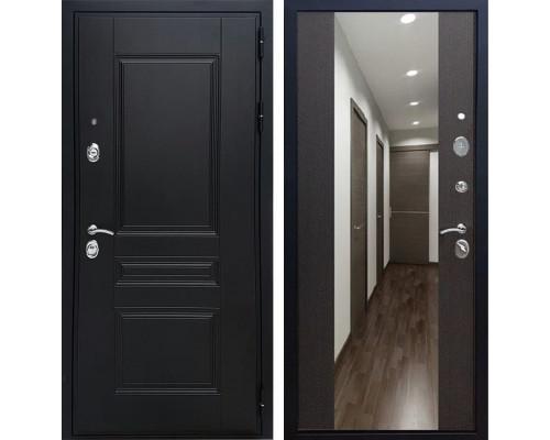 Входная дверь Армада Премиум Н с Зеркалом СБ-16 (Венге / Венге)