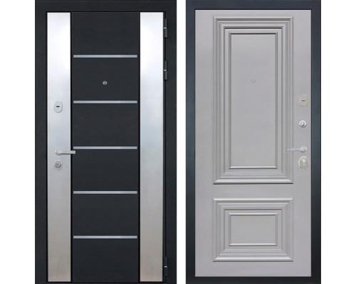 Входная металлическая дверь Интекрон Вельс Сан Ремо-2 (Черный металлик / Пыльно-серый RAL 7037)
