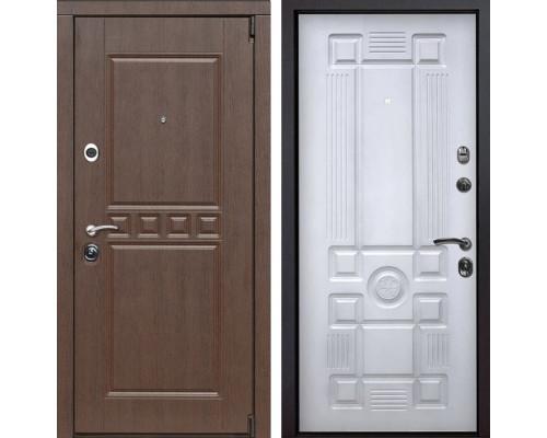 Входная металлическая дверь Сарбона Рим (Венге патина / Белый с патиной)