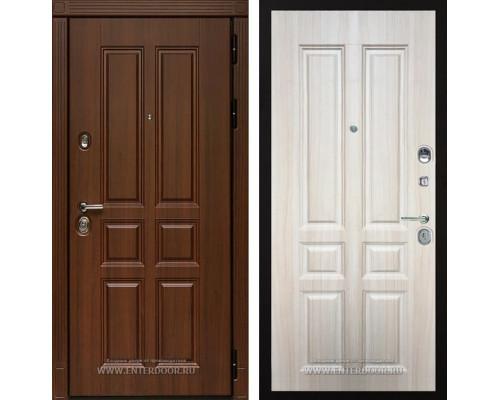 Входная металлическая дверь Дива МД-43 (Орех бренди / Дуб Филадельфия крем)