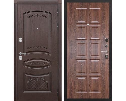 Входная металлическая дверь Сенатор Венеция Т-13 (Дуб коньяк / Коньяк филадельфия)