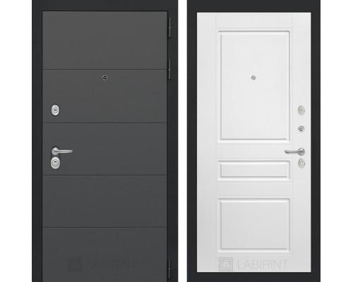 Входная дверь ART графит 03 - Белый софт