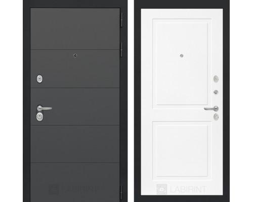Входная дверь ART графит 11 - Белый софт