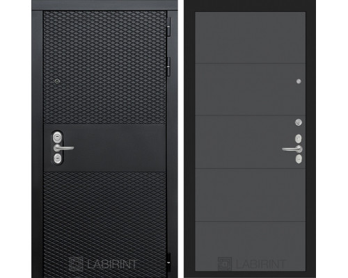 Входная дверь BLACK 13 - Графит софт